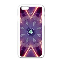 Abstract Glow Kaleidoscopic Light Apple Iphone 6/6s White Enamel Case by BangZart
