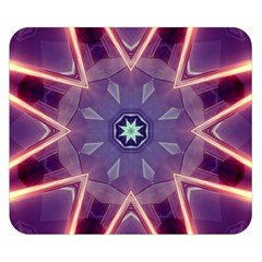 Abstract Glow Kaleidoscopic Light Double Sided Flano Blanket (small)