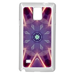 Abstract Glow Kaleidoscopic Light Samsung Galaxy Note 4 Case (white) by BangZart