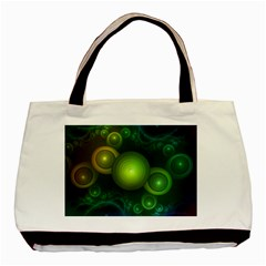 Retrotacular Rainbow Dots In A Fractal Microscope Basic Tote Bag (two Sides) by beautifulfractals