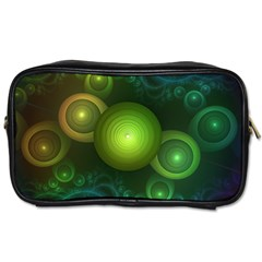 Retrotacular Rainbow Dots In A Fractal Microscope Toiletries Bags 2 Side by beautifulfractals