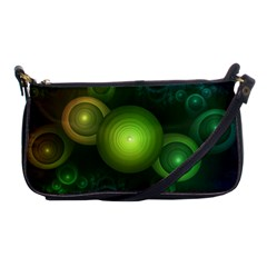 Retrotacular Rainbow Dots In A Fractal Microscope Shoulder Clutch Bags by beautifulfractals