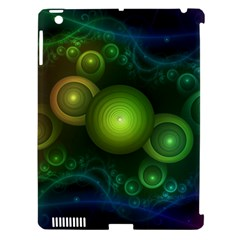 Retrotacular Rainbow Dots In A Fractal Microscope Apple Ipad 3/4 Hardshell Case (compatible With Smart Cover) by jayaprime