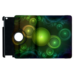 Retrotacular Rainbow Dots In A Fractal Microscope Apple Ipad 2 Flip 360 Case by beautifulfractals