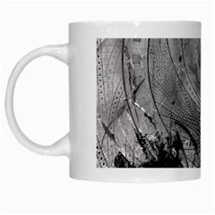 Fragmented Fractal Memories And Gunpowder Glass White Mugs by beautifulfractals