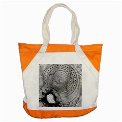 Fragmented Fractal Memories And Gunpowder Glass Accent Tote Bag by jayaprime