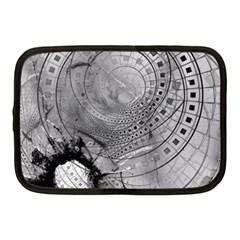 Fragmented Fractal Memories And Gunpowder Glass Netbook Case (medium)  by jayaprime