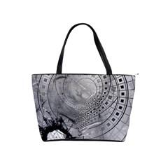 Fragmented Fractal Memories And Gunpowder Glass Shoulder Handbags by jayaprime