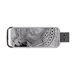 Fragmented Fractal Memories And Gunpowder Glass Portable Usb Flash (two Sides) by beautifulfractals
