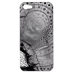 Fragmented Fractal Memories And Gunpowder Glass Apple Iphone 5 Hardshell Case by beautifulfractals