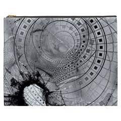 Fragmented Fractal Memories And Gunpowder Glass Cosmetic Bag (xxxl)  by jayaprime