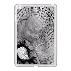 Fragmented Fractal Memories And Gunpowder Glass Apple Ipad Mini Case (white) by beautifulfractals