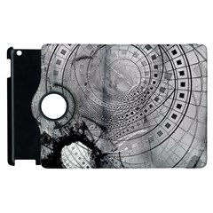 Fragmented Fractal Memories And Gunpowder Glass Apple Ipad 3/4 Flip 360 Case by jayaprime