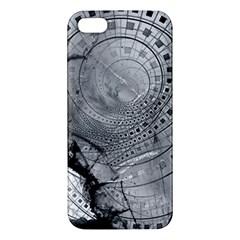 Fragmented Fractal Memories And Gunpowder Glass Apple Iphone 5 Premium Hardshell Case by jayaprime