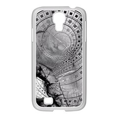 Fragmented Fractal Memories And Gunpowder Glass Samsung Galaxy S4 I9500/ I9505 Case (white) by beautifulfractals