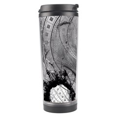 Fragmented Fractal Memories And Gunpowder Glass Travel Tumbler by jayaprime