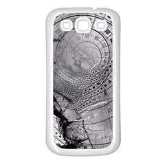 Fragmented Fractal Memories And Gunpowder Glass Samsung Galaxy S3 Back Case (white) by beautifulfractals