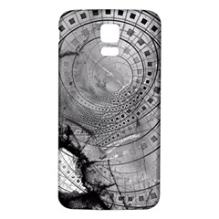 Fragmented Fractal Memories And Gunpowder Glass Samsung Galaxy S5 Back Case (white) by beautifulfractals