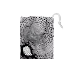 Fragmented Fractal Memories And Gunpowder Glass Drawstring Pouches (small)  by jayaprime