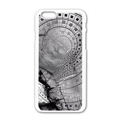 Fragmented Fractal Memories And Gunpowder Glass Apple Iphone 6/6s White Enamel Case by beautifulfractals