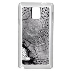 Fragmented Fractal Memories And Gunpowder Glass Samsung Galaxy Note 4 Case (white) by beautifulfractals