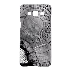 Fragmented Fractal Memories And Gunpowder Glass Samsung Galaxy A5 Hardshell Case  by beautifulfractals