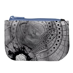 Fragmented Fractal Memories And Gunpowder Glass Large Coin Purse by jayaprime