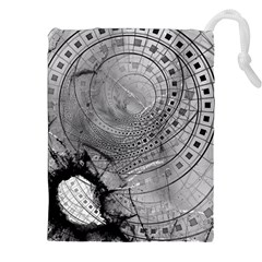Fragmented Fractal Memories And Gunpowder Glass Drawstring Pouches (xxl) by jayaprime