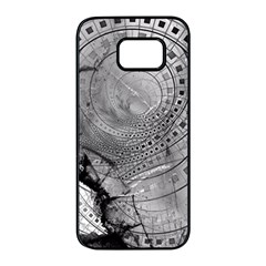 Fragmented Fractal Memories And Gunpowder Glass Samsung Galaxy S7 Edge Black Seamless Case by beautifulfractals