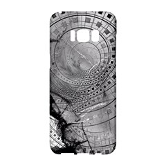 Fragmented Fractal Memories And Gunpowder Glass Samsung Galaxy S8 Hardshell Case  by beautifulfractals