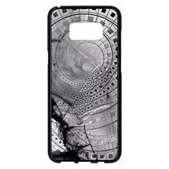 Fragmented Fractal Memories And Gunpowder Glass Samsung Galaxy S8 Plus Black Seamless Case by beautifulfractals