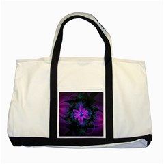 Beautiful Ultraviolet Lilac Orchid Fractal Flowers Two Tone Tote Bag by jayaprime
