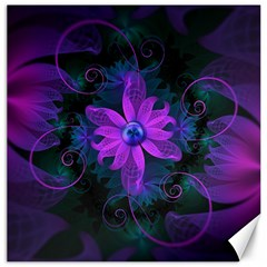 Beautiful Ultraviolet Lilac Orchid Fractal Flowers Canvas 16  X 16   by beautifulfractals