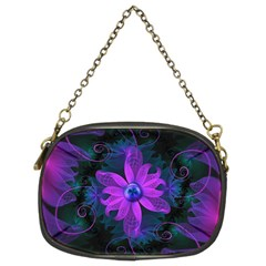 Beautiful Ultraviolet Lilac Orchid Fractal Flowers Chain Purses (two Sides)  by jayaprime