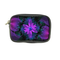 Beautiful Ultraviolet Lilac Orchid Fractal Flowers Coin Purse by jayaprime