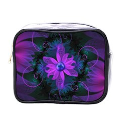Beautiful Ultraviolet Lilac Orchid Fractal Flowers Mini Toiletries Bags by jayaprime