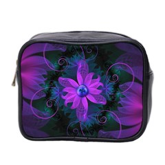 Beautiful Ultraviolet Lilac Orchid Fractal Flowers Mini Toiletries Bag 2 Side by beautifulfractals