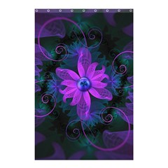 Beautiful Ultraviolet Lilac Orchid Fractal Flowers Shower Curtain 48  X 72  (small)  by jayaprime