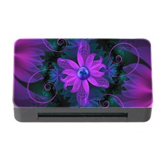 Beautiful Ultraviolet Lilac Orchid Fractal Flowers Memory Card Reader With Cf by beautifulfractals
