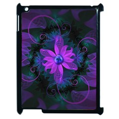 Beautiful Ultraviolet Lilac Orchid Fractal Flowers Apple Ipad 2 Case (black) by beautifulfractals