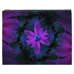 Beautiful Ultraviolet Lilac Orchid Fractal Flowers Cosmetic Bag (xxxl)  by beautifulfractals