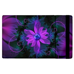 Beautiful Ultraviolet Lilac Orchid Fractal Flowers Apple Ipad 2 Flip Case by jayaprime