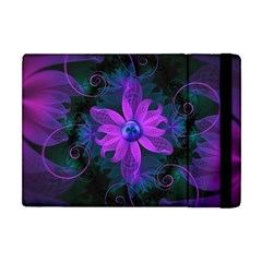 Beautiful Ultraviolet Lilac Orchid Fractal Flowers Apple Ipad Mini Flip Case by beautifulfractals