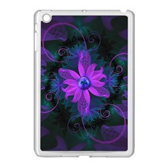 Beautiful Ultraviolet Lilac Orchid Fractal Flowers Apple Ipad Mini Case (white) by beautifulfractals