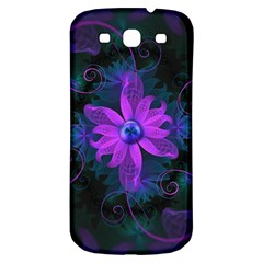 Beautiful Ultraviolet Lilac Orchid Fractal Flowers Samsung Galaxy S3 S Iii Classic Hardshell Back Case by jayaprime