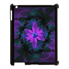 Beautiful Ultraviolet Lilac Orchid Fractal Flowers Apple Ipad 3/4 Case (black) by jayaprime