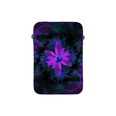 Beautiful Ultraviolet Lilac Orchid Fractal Flowers Apple Ipad Mini Protective Soft Cases by jayaprime