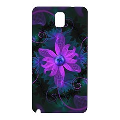 Beautiful Ultraviolet Lilac Orchid Fractal Flowers Samsung Galaxy Note 3 N9005 Hardshell Back Case by jayaprime