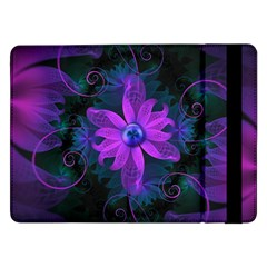 Beautiful Ultraviolet Lilac Orchid Fractal Flowers Samsung Galaxy Tab Pro 12 2  Flip Case by jayaprime