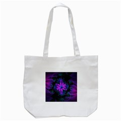 Beautiful Ultraviolet Lilac Orchid Fractal Flowers Tote Bag (white) by jayaprime